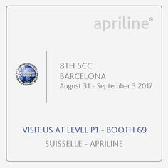 Attending the 5CC - Barcelona? We invite you to come visit us at booth nº 69, and get to know us a little bit more. Don't be shy, we will love to have your visit and get to know you too!  #apriline #5continentcongress #barcelona