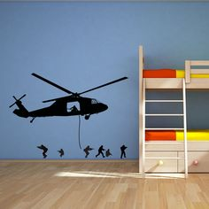 ARMY HELICOPTER PICKUP WALL ART STICKER, WALL MURAL, WALL DECAL, DIY DECO | eBay