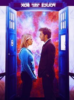 """The Doctor and Rose Tyler.""""Burning Up a Sun"""""""