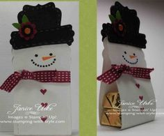 CARD #15: Snowman Treat Holder
