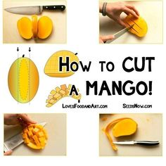 The Correct Way to Cut a Mango | Community Post: 34 Creative Kitchen Hacks That Every Cook Should Know
