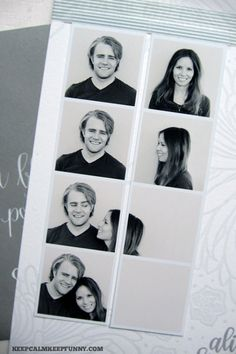 What a Clever and Fun Spin On the Photo Booth Strip Save the Date Idea