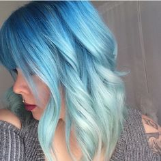 Feeling blue? Hair by @ashbot15 #behindthechair
