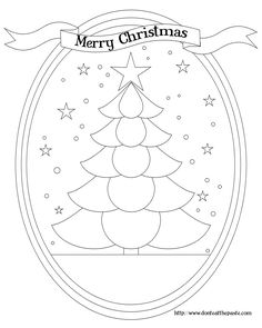 Christmas Tree Coloring Pages | Don't Eat the Paste: Christmas Tree box and coloring page