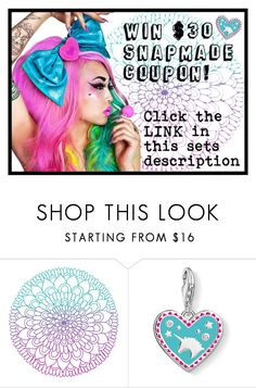 """""""Join our CONTEST to WIN $30 Snapmade coupon!"""" by beanpod ❤ liked on Polyvore featuring Thomas Sabo"""