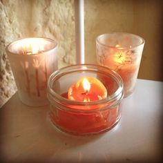 Candy Corn Scented Candles.