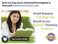 read my blog about #summerlearningloss at #TutorDoctorTucson.com