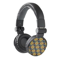 Vibrant Medieval Check Headphones by #dflcprints and #zazzle