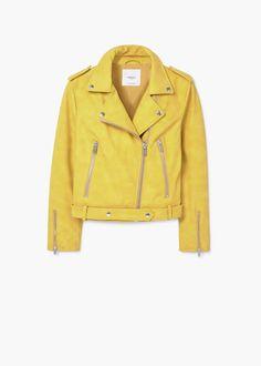 Zipped biker jacket | MANGO