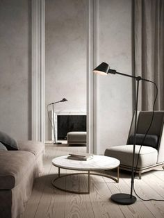 Swing Arm Floor Lamp, Black Floor Lamp, Black Lamps, Living Room Interior, Light Decorations, Designer, Flooring, Interior Design, Led