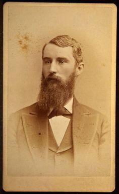 CDV Photo Man Name T D Stewart West Theol Seminary 1876 Abrams Allegheny PA  