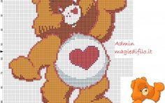 Tenderhearth Bear Care Bears free cross stitch pattern