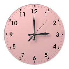 Inspired Pink Ribbon clock