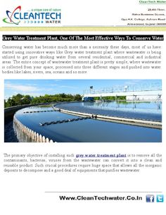 Avoid such wastage you need to get in touch with a reputable company that offers high end demineralised water plant or wastewater treatment plants from their space.