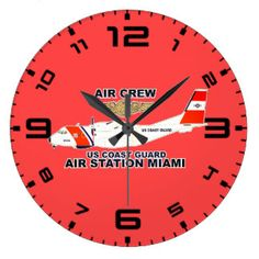 USCG Air Station Miami Air Crew Large Clock