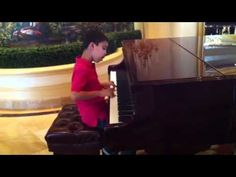 ▶ Ethan Bortnick plays piano at Las Vegas Hilton - YouTube