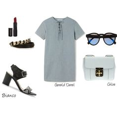 A fashion look from May 2014 featuring short sleeve summer dresses, cotton jewelry and round frame sunglasses. Browse and shop related looks. Spring Day, Shoe Bag, Sandals, Polyvore, Stuff To Buy, Shopping, Design, Women, Fashion
