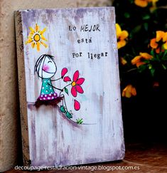 Diy Wood Projects, Wood Crafts, Diy And Crafts, Projects To Try, Arts And Crafts, Decoupage Vintage, Pallet Art, Painting On Wood, Diy Gifts