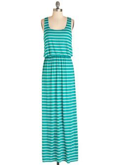 Grilled to Be Here Dress. Fire up the charcoal, for youre hosting a backyard cookout in this jersey-knit maxi dress! #green #modcloth
