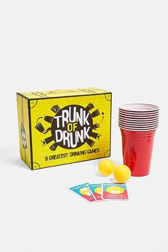 Shop Trunk of Drunk Party Game Set at Urban Outfitters today. We carry all the latest styles, colours and brands for you to choose from right here. Drunk Games, Drunk Party, Never Have I Ever, Drinking Games, Plastic Cups, Party Games, Cleaning Wipes, Trunks, Hilarious