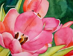 tulips watercolor painting - Google Search