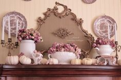 FRENCH COUNTRY COTTAGE: Romantic Autumn Mantel