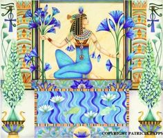 """Lotus Azules """"Usualmente se le ofrendaban Lotos Azules del Nilo a los Faraones…"""