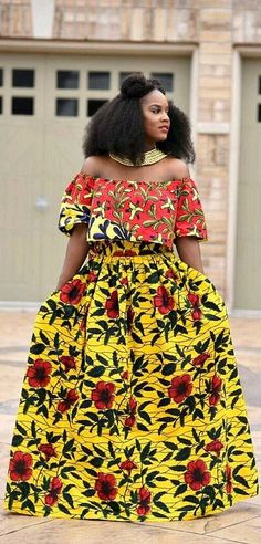 Beautiful ankara maxi skirt styles for ladies, big and long ankara skirt styles and designs, trendy long ankara skirt styles for ladies Latest African Fashion Dresses, African Print Dresses, African Dresses For Women, African Print Fashion, Africa Fashion, African Attire, African Wear, Ethnic Fashion, African Women