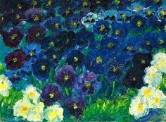 The Blue Flowers Artist: Emile Nolde Year: 1908 Type: Oil on canvaso - Google Search