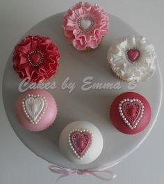 Valentine's cupcakes by Cakes by Emma B