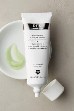 REN Clean Skincare Flash Rinse 1 Minute Facial - anthropologie.com