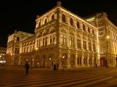 Vienna State Opera, Austria, Europe, Outside night view