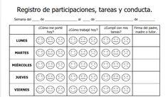 formato para capturar participaciones, tareas y conducta de los alumnos de escuela primaria, Flipped Classroom, Spanish Classroom, Teaching Spanish, Teaching Tools, Teaching Kids, Kids Learning, Behavior Management, Classroom Management, Behavior Interventions