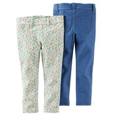 Carter's Baby Girls' 2-Pack Jeggings - Floral/Blue *** Discover this special product, click the image : Baby clothes