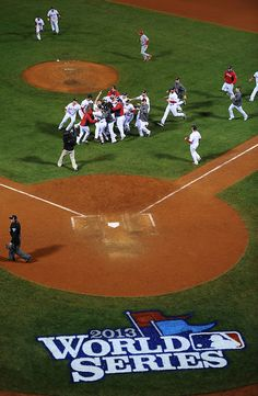 OCTOBER 31, 2013, Boston, MA :  The Red Sox win the World Series during game 6 against the St Louis Cardinals. (Photo by Brian Babineau/Boston Red Sox)