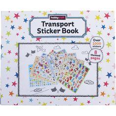 Transport Sticker Book A3   Hobbycraft