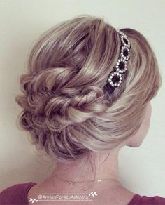 wedding hairstyle idea - video Tutorials - annie's forget me knots