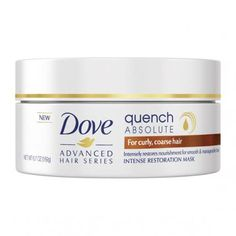 Dove Advanced Hair Series Intense Restoration Mask, Quench Absolute oz (Pack of Curly Hair Styles, Natural Hair Styles, Advanced Hair, Top Stylist, Coarse Hair, Hair Growth Tips, Hair Restoration, Natural Curls, Dream Hair