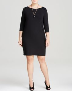 Eileen Fisher Plus Boat Neck Dress