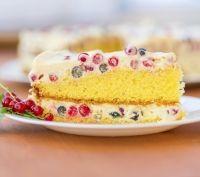 Recette Gâteau soufflé à la crème de fruits rouges
