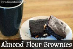 S - Almond Flour Brownies - 2 ounce unsweetened baking chocolate ½ cup butter ½ cup xylitol/erythritol or sugar of your choice ¼ teaspoon pure white stevia extract (I use NuNaturals) 2 eggs 1 teaspoon vanilla extract Pinch of salt ¼ teaspoon baking soda ½ cup almond flour ½ cup chopped nuts