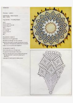 Doilies (Kenneth Moir) Afrikaans & English Crochet Doily Diagram, Crochet Doily Patterns, Crochet Mandala, Bead Crochet, Crochet Dollies, Star Wars, Crochet Home, Lace Knitting, Doilies