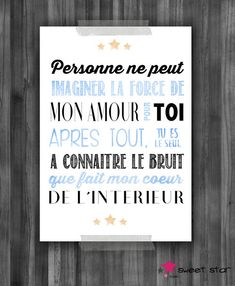 poster for children& room - Boy: Children& room, baby by the . French Signs, Small Space Interior Design, A4 Poster, Positive Attitude, Boy Room, Room Baby, Kids And Parenting, Baby Love, Kids Bedroom