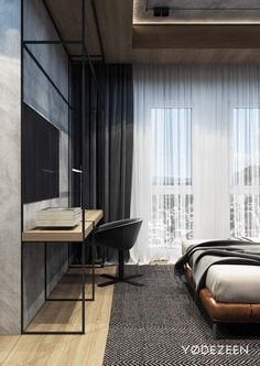 ideas bedroom hotel interior design for 2019 Hotel Room Design, Home Office Design, Home Interior Design, Interior Architecture, House Design, Appartement Design, Modern Bedroom Design, Bedroom Designs, Modern Design