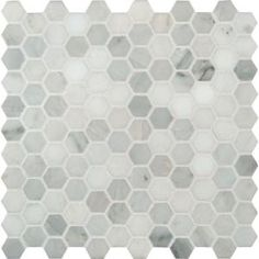 MS International Greecian White Hexagon 12 in. x 12 in. Polished Marble Mesh-Mounted Mosaic Floor and Wall Tile-GRE-1HEXP at The Home Depot $9.97