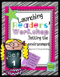 Setting up the environment for Reader's Workshop can be challenging- This packet is here to help: Launching Readers Workshop - posters, student sheets and resources, reading logs, bookmarks, and more $