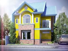Yellow Exterior House Color Combination