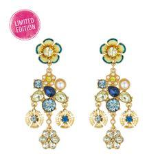 Deep Blue & Canary Earrings! Shop them: www.chloeandisabel.com/boutique/tarinwilliams