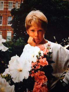 Young Benedict in his mother's garden.