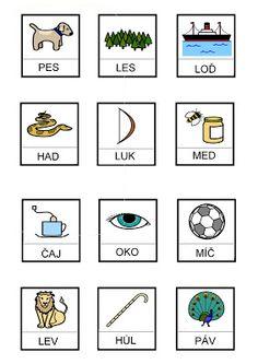 Slova ze 3 písmen – Monika R. Montessori, Literacy, Alphabet, Homeschool, Crafts For Kids, Archive, Playing Cards, Gallery Wall, Language
